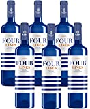 Four Lines Verdejo Vino Blanco D.O Rueda 6 Botellas de 750 ml - Total: 4500 ml