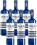 Four Lines Verdejo Vino Blanco D.O Rueda, Pack de 6 Botellas de 750 ml (Total: 4.5 L) Bodega Cuatro Rayas