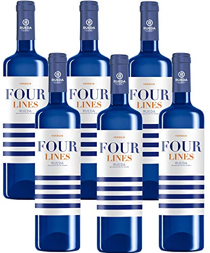 Four Lines Verdejo - 6 Botellas de 750 ml - Total: 4500 ml