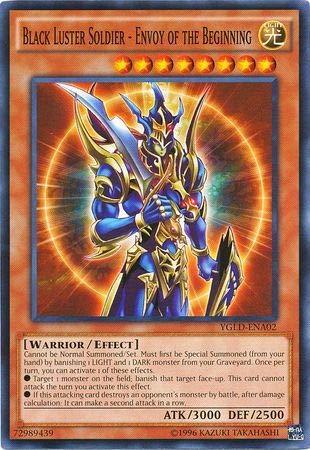 Yu-Gi-Oh! - Black Luster Soldier - Envoy of The Beginning - YGLD-ENA02 - Common - Unlimited Edition - Yugi's Legendary Decks