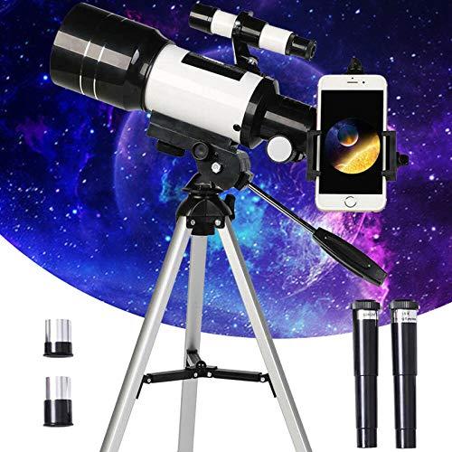 PEALOV Telescopio Astronomico,Telescopio Rifrattore Portatile, Binocolo Singolo Professionale Per Principianti Per Adulti Per Bambini,facile Da Montare E Utilizzare,con Treppiede,cercatore