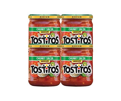 Tostitos Medium Chunky Salsa, 15.5 Ounce Jar, Pack of 4