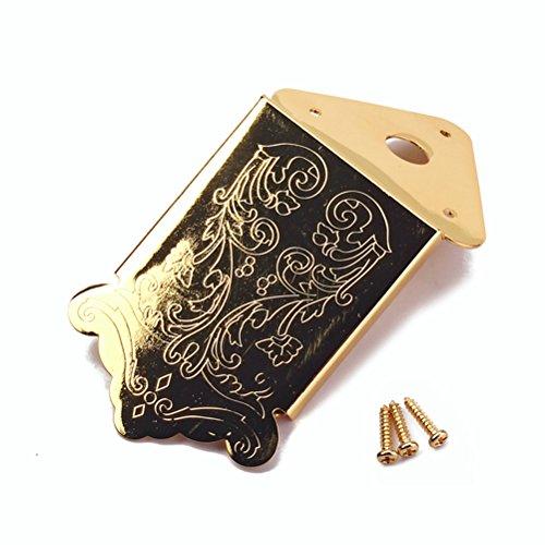 HEALLILY Mandolinen Saitenhalter Zigarrenbox Gitarren Saitenhalter mit Deckelschrauben Gold