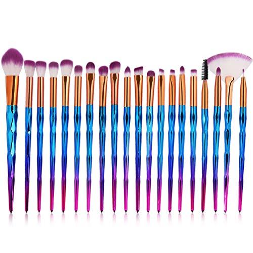 20 Pcs Diamant Pinceaux De Maquillage Ensemble Poudre Ombre À Paupières Fondation Mélange Blush Lèvre Cosmétique Beauté Douce Make Up Pinceau Outil,Purple