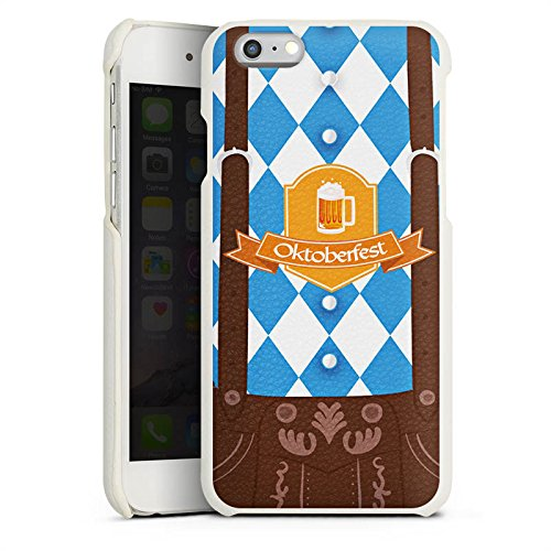 DeinDesign Cover kompatibel mit Apple iPhone 6s Lederhülle Leder Case Leder Handyhülle Oktoberfest Lederhose Bier