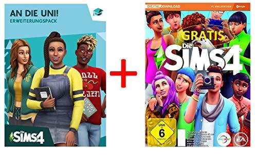 Die Sims 4 - An die Uni! (EP 8) [PC Code - Origin] PLUS Die Sims 4 Basisspiel GRATIS Geschenk-Bundle