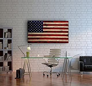 Large Distressed American Flag