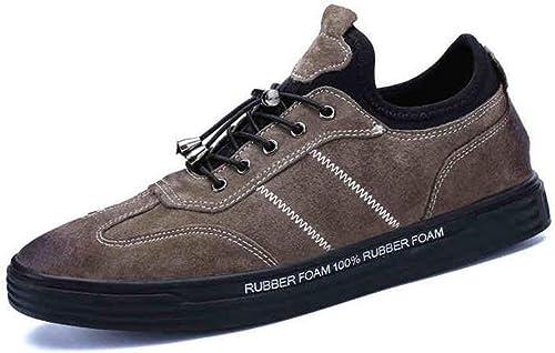 DSX Version Coréenne Hiver pour Hommes de la Tendance, Chaussures de Sport pour Adolescents, Assiettes, Noir Kaki, Marron, EU43   UK9   CN44