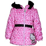 Hello Kitty Infant/Toddler Girl's HK033 Puffer Fleece Lined Winter Jacket (2T, Pink)