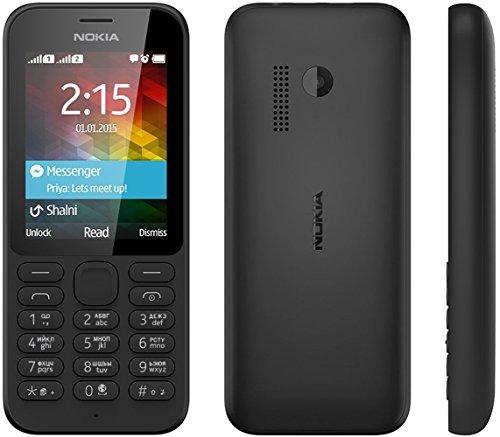 Nokia A00023207 215 Smartphone Dual-SIM (5,08 cm (2,4 Zoll) Display, 0,3 Megapixel Kamera, GSM-Dualband, 8MB RAM, Bluetooth 3.0, micro-USB 2.0) schwarz