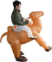 LLVV Halloween Inflatables Brown Camel Adult Cosplay Costume,Blow Up Animal Costumes Suit,Halloween Decorations