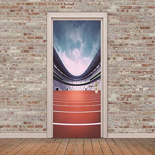 XKLBO Deursticker Muurschilderingen Fotobehang Decal, Stadion, 38.5 * 200Cm * 2 Stks 3D Woonkamer Slaapkamer Kantoor Huis Home Decor Kwekerij Restaurant Café Hd Creatieve Poster
