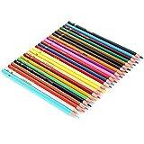 Hecho de troncos No es fácil de desvanecer Pintura Lápices de colores 24 lápices de colores Respetuoso con el medio ambiente para los niños El mejor regalo Fácil de colorear
