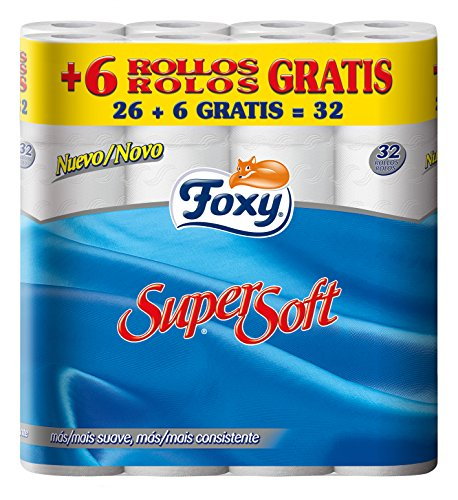 Foxy - Papel Higienico Supersoft 26 + 6R