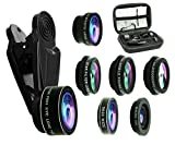 Bostionye 8 in 1 Phone Camera Lens Kit, 0.63Wide Angle lens+15X Macro+198°Fisheye+2X Telephoto+Kaleidoscope+CPL/Starlight/Universal