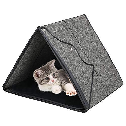 Barbieya Katzenhöhle Katzenbett Katzenhaus,Premium Katzenbett-Höhle,umweltfreundliche Betten aus 100% Merinowolle für Katzen, handgefertigtes Katzenbett, Faltbare Höhle für Katzen und Kätzchen