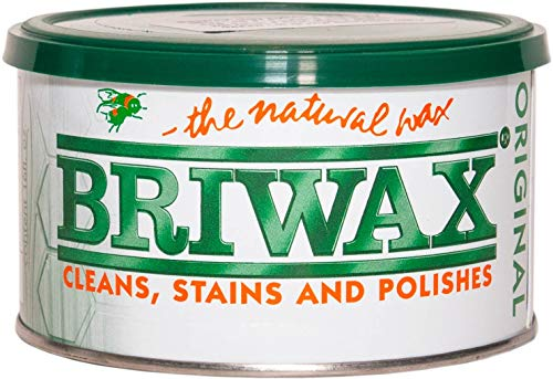 Briwax BR-1-LB (Light Brown Furniture Wax Polish, Cleans, Stains, and Polishes