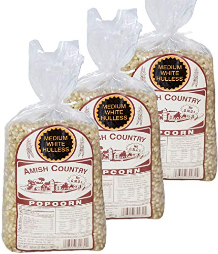 Buy Amish Country Popcorn | 3 - 2 lb Bags | Medium White Popcorn Kernels | Old Fashioned with Recipe...