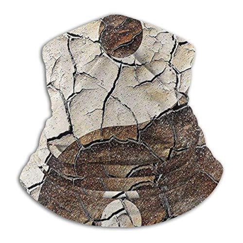 XCNGG Signo asiático de Yin Yang en suelo de tierra agrietada Calentador de cuello unisex Polaina Pasamontañas Máscara de esquí Máscara facial para clima frío Sombreros de invierno Sombreros para homb