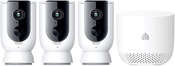 TP-Link Kasa Smart Wire-Free Camera System 3 Pack with hub,1080p Full HD, IP65, 2 Way Audio, Rechargable Battery, Security...