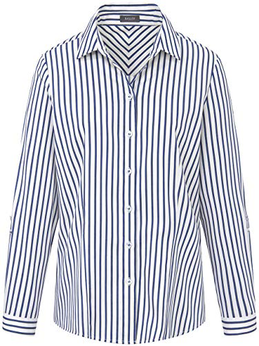 BASLER Damen Bluse mit klassischem Schnitt und Streifen
