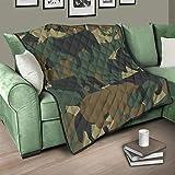 Flowerhome Camouflage Bär Tagesdecke Steppdecke Bettdecke Bettüberwurf Sofadecke Couchdecke Schlafdecke Wohndecken Kuscheldecken für Erwachsene Kinder White 200x230cm