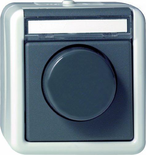 Gira 030130 dimmer drukwissellamp 60 waterdicht opbouw 450 W, grijs