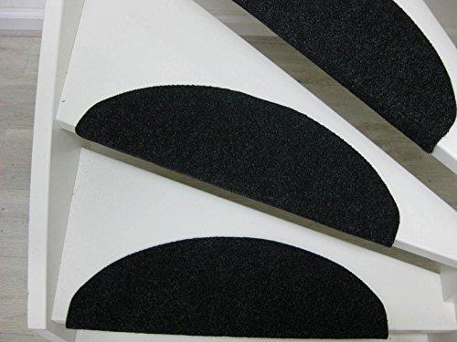 Borneo 15 Tappeti per scalini - passatoie per singoli gradini 65x25cm braun-beige, beige, blu,antracite (antracite)