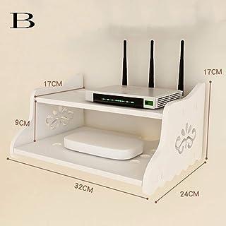 HJJ Los estantes flotantes WPC Bordo/Montaje en Pared/Montaje Libre de Set Top Box Pared de la perforación/TV/Plataforma/Caja de Almacenamiento Router/Pared/Sala de Estar/Dormitorio partic