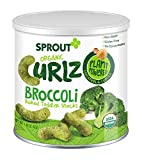 Sprout Organic Curlz Toddler Snacks, Broccoli, 1.48 Ounce (1 Count) Canister