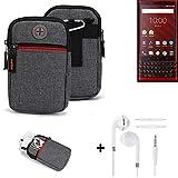 K-S-Trade® Gürtel-Tasche + Kopfhörer Für BlackBerry