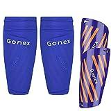 Gonex Espinilleras de fútbol niños Adultos Juventud Mangas Protectoras de fútbol espinilleras Hombre de fútbol Juveniles con Calcetines cojín de EVA