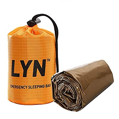 LYN Bivy Emergency Sleeping Bag Thermal Bivvy Use as Heat Retention for Camping, Hiking ? Emergency Shelter?Emergency Camping Bivy Sacks