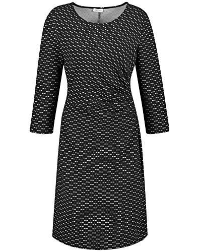 Gerry Weber Damen 280903-35041 Kleid, Mehrfarbig (Schwarz/Ecru/Weiss Gemust 1090), (Herstellergröße: 40)