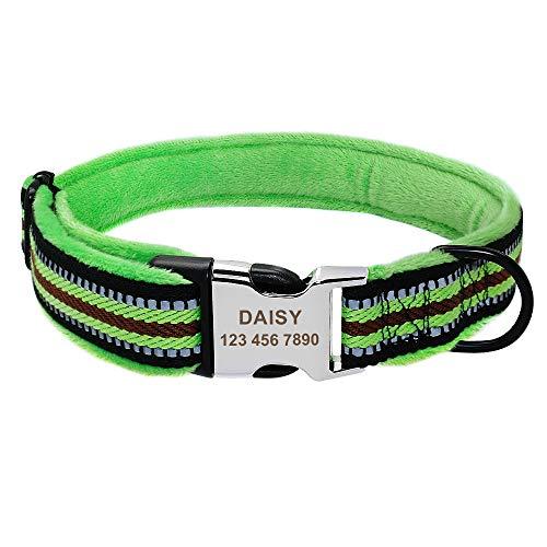 TTCI-RR Collar Perro Personalizado Collar de Perro Personalizado Nylon Perrito Perrito Cuello Collar Acolchado Suave Personalizado Coleira Perro para pequeños Perros Grandes Grandes Nombre