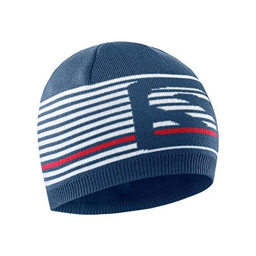 Chapeau d'hiver Salomon, unisexe, FLATSPIN SHORT BEANIE, bleu (Dark Denim), taille unique, LC1422100