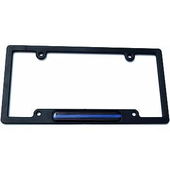 USA Police thin blue line Metal black Aluminium Car License plate frame holder