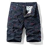 Pantalones Rectos De Sección Delgada De Verano Pantalones Casuales De Camuflaje Europeo Pantalones Cortos Multibolsillos para Hombres Al Aire Libre para Hombres