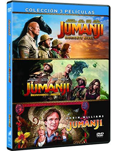Jumanji: 1995 + Bienvenidos a la Jungla + El Siguiente Nivel [DVD]