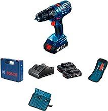 """Parafusadeira e Furadeira de Impacto de ½"""" Bosch GSB 180-LI, 18V, com 2 Baterias 1,5Ah, Carregador BIVOLT, Kit de acessóri..."""