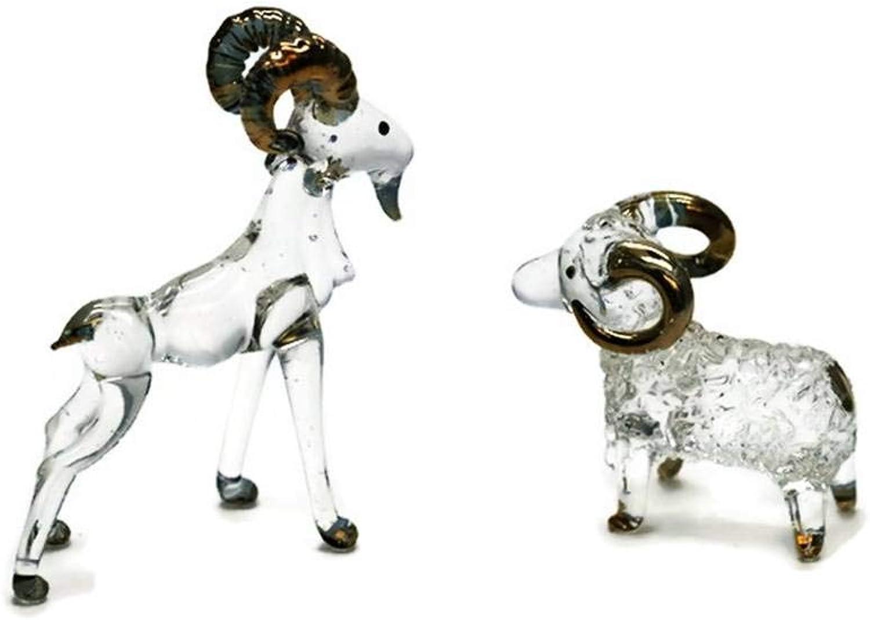 3 D Crystal Toy Gloden Lucky Money Goat Hand Bowl Glass Dollhouse Miniatures Decoration
