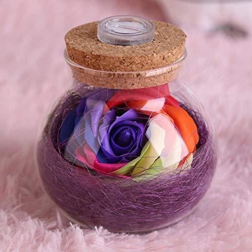 Omabeta Lámpara de Botella Lámpara Rosa Lámpara LED RGB de diseño único con Control Remoto Decoración de Fiesta de Boda para propuestas de Matrimonio (Purple)