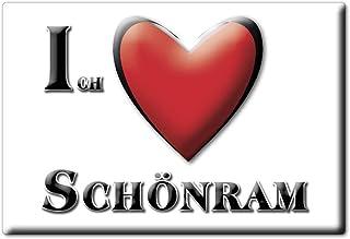 Enjoymagnets SCHÖNRAM by Souvenir Deutschland Bayern Fridge Magnet KÜHLSCHRANK Magnet ICH Liebe I Love