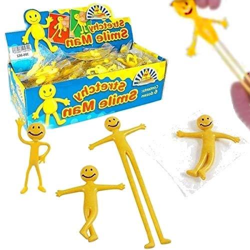 German Trendseller® - 8 x Smiley Glibber - Männchen┃ Knetmännchen ┃Dehn- und Streckbar ┃ Kinder lieben diese Glibber Smileys!