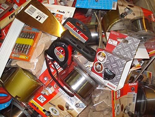 50 tlg. Baumarkt Paket Werkzeug Zubehör Flohmarkt Sonderposten Restposten