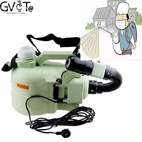 Rociador de nebulizador ULV eléctrico de 5L Rango 3-8M, para tiendas, escuelas, hospitales, almacenes, área para mascotas, edificios de oficinas, restaurantes Desinfectante de pulverización 220V