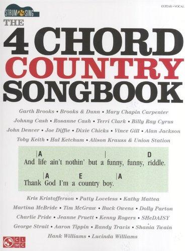 Strum & Sing: The 4 Chord Country Songbook: Noten, CD für Gitarre