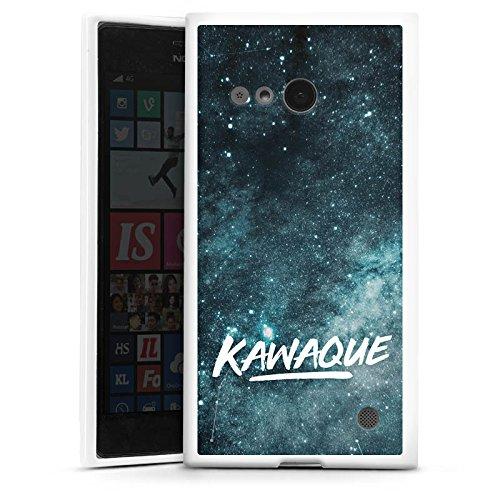 DeinDesign Silikon Hülle kompatibel mit Nokia Lumia 735 Hülle weiß Handyhülle Kawaque YouTube Galaxie