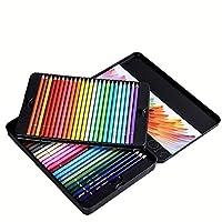 色鉛筆セット24/36/48/72色油絵の具鉛筆鉛筆セットアートスクールサプライヤー絵画スケッチ教材 文房具 良い贈り物 (Size:Free Size; Color:36 Colors)