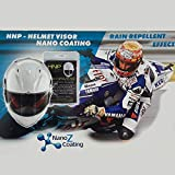 Nano HNP Water and Rain Repellent Wipe for Motorcycle Helmet Visor Self Cleaning Effect Repels Dust and Dirt - Increases Visibility and Safety [UV Durability] Must for Motorcycle Rain Gear